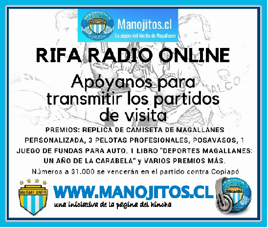 rifa MANOJITOS.CL CLUB MAGALLANES 2018